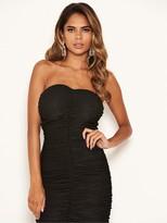AX Paris Ruched Wrap Bodycon Dress - Black