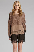 Gold Hawk Patchwork Square Top