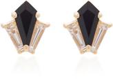 Doryn Wallach Dorothy Black Onyx Diamond Stud Earrings