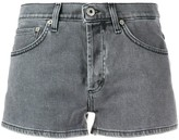 Dondup rear logo patch high rise shorts