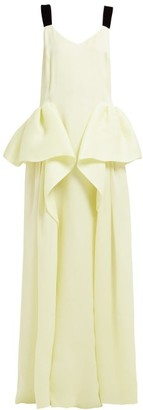 Roksanda Tirese Cascade-panel Organza Gown - Yellow