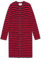 Gucci Striped cotton wool cardigan