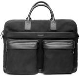 hook + ALBERT Men's Canvas Laptop Briefcase - Black