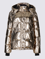 M&S Collection Metallic Padded Jacket with StormwearTM