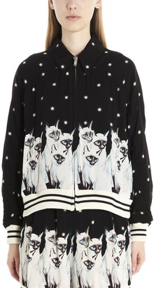Undercover Cat Print Bomber Jacket