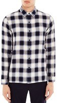 Sandro Tulsa Blurred Plaid Slim Fit Button Down Shirt