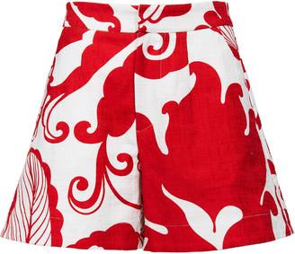 La DoubleJ Printed Stretch-Cotton Shorts