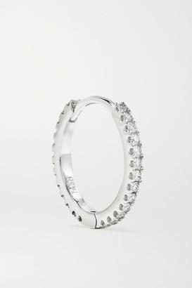 Maria Tash Eternity 9.5mm 18-karat White Gold Diamond Hoop Earring - one size