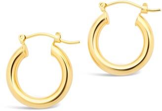 Sterling Forever 14K Gold Plated Chunky Tube Hoop Earrings