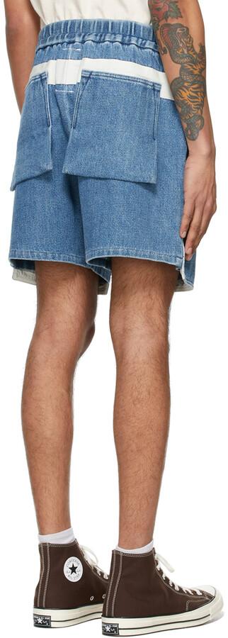 Thumbnail for your product : Kuro Blue Denim Loose Baker Shorts
