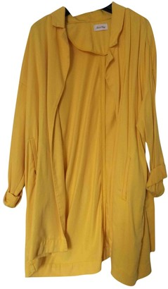 American Vintage Yellow Cotton Coat for Women