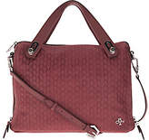 Oryany As Is Embossed Woven Leather Satchel - Kaley