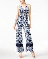 Astr Amara Printed Cutout Jumpsuit