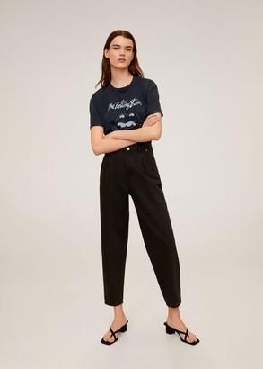 MANGO Rolling Stones T-shirt charcoal - S - Women