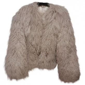 Chloé Ecru Mongolian Lamb Coat for Women