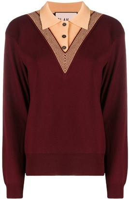 Plan C Virgin Wool Polo Jumper