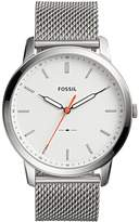 Fossil Men's 'Minimalist' Quartz Stainless Steel Casual Watch, Color:-Toned (Model: FS5359)
