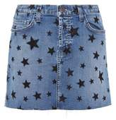 Current/Elliott Printed denim miniskirt