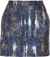 Stella McCartney Tie dye-effect jacquard mini skirt