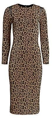 Le Superbe Women's Kate Glitter Leopard-Print Maxi Bodycon Dress