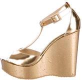 Jimmy Choo Mirror Leather Platform Sandals