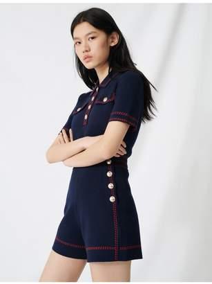 Maje Nautical-Style Knit Shorts