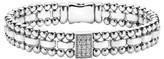 Lagos Women's Caviar Spark Diamond Rectangle Link Bracelet