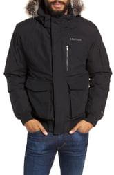 Marmot Stonehaven Waterproof 700 Fill Power Down Jacket with Faux Fur Trim