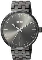 Vestal 'Roosevelt Metal' Quartz Stainless Steel Dress Watch, Color:Grey (Model: ROS3M007)