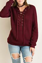 Entro Grommett Lace Sweater