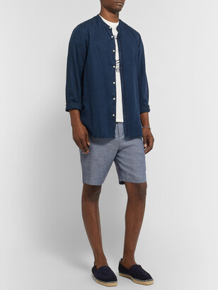 Frescobol Carioca Felipe Slim-Fit Linen And Cotton-Blend Drawstring Shorts