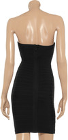 Herve Leger Strapless bandage mini dress