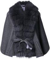 Guy Laroche belted cape - women - Fox Fur/Cashmere/Wool - One Size