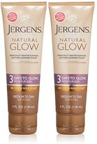 Jergens Natural Glow - 3 Days to Glow Moisturizer Medium to Tan Skin, 4 Ounce (Pack of 2)
