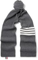 Thom Browne - Striped Ribbed Wool Scarf