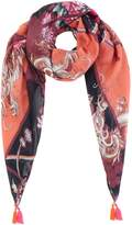 Oui Floral printed square scarf
