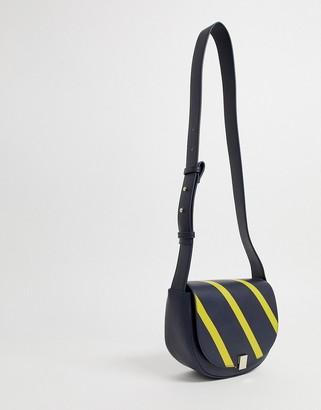 French Connection Claudia bloc stripe handbag-Navy