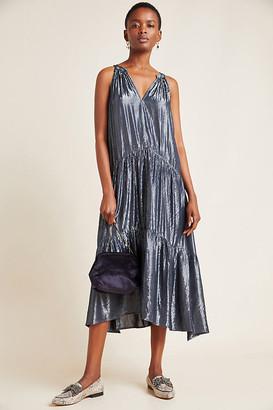 Velvet by Graham & Spencer Jorja Tiered Midi Dress By in Grey Size S