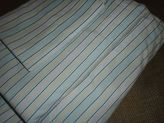Martha Stewart Clipper Stripe (3pc) Twin Sheet Set 300tc 100% Cotton Blue Yellow