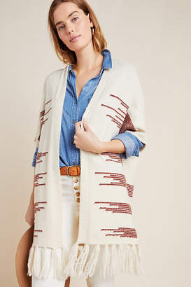 Anthropologie Canyon Fringed Wrap By in Assorted Size ALL