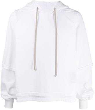 Rick Owens layered sleeve hoodie