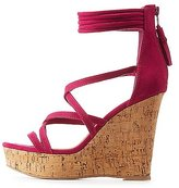 Charlotte Russe Faux Suede Strappy Wedge Sandals