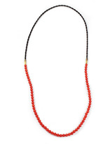 Lulu Frost G. Frost X Michael Bastian - Horsehair Beaded Necklace Red
