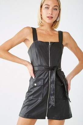 Forever 21 Belted Faux Leather Mini Dress