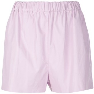 Tibi Tissue faux leather shorts