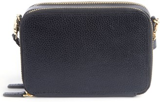 Royce Leather Royce New York Pebbled Leather Mini Crossbody Bag