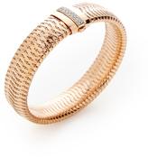 Roberto Coin Primavera 18K Rose Gold & 0.18 Total Ct. Pave Diamond Medium Bangle Bracelet