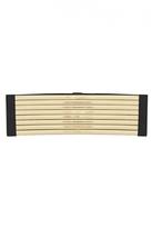 Quiz Black and Gold Metallic Corset Belt
