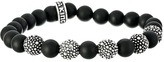 King Baby Studio 8mm Onyx Bead Bracelet with 5 Stingray Beads Bracelet