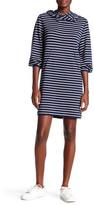 Max Studio Long Sleeve Striped Pouch Pocket Dress